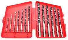 """13 Pc Drill Bit Set Multi Purpose Drill Bits 1-16"""" - 1/4"""" Wood Plastic Metal NEW"""