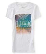 Aeropostale Womens LOVE Graphic T-Shirt 102 S