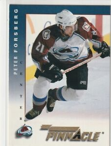 PETER FORSBERG 1998 TEAM PINNACLE #H5 RARE