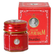 Siang Pure Balm Red Muay Thai Herbal Thailand Warming Massage Herb Ache Pain 12g