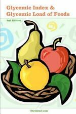 Glycemic Index and Glycemic Load of Foods by DietGrail Publisher (2011, Paperbac