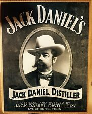 Jack Daniel's Portrait TIN SIGN Whiskey vtg Metal Wall Decor Western Pub 30x40cm