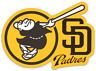 San Diego Padres Friar Swinging Bat & word logo Type MLB Baseball Die-Cut MAGNET
