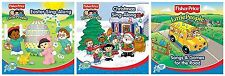 3 brand new FISHER-PRICE LITTLE PEOPLE CDs LOT Easter,Christmas Sing-Along,Songs
