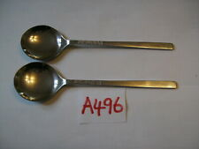 VINERS LOVE STORY  SOUP SPOONS X 2  in  excellent condition