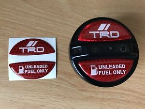 TRD Fuel Cap Decals JDM Toyota Stickers Optional Starlet Celica Supra Drift