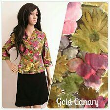Vintage 50's Laeta Ramage Painted Daisy Floral Cotton Jacket Cardi Top 60s 10 38