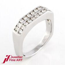 Diamant-Ring 750/18K Weißgold - 20 Brillanten ca. 0,80 ct TW-VSI  5,1 g - Gr. 49