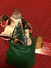 POSSIBLE DREAMS CLOTHTIQUES CHRISTMAS 1993 Black SANTA CLAUS