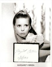 Margaret O'Brien Autograph Little Women Babes on Broadway Meet Me in St. Louis