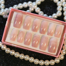 Smooth Marble False Nail Clear Marble Texture Design Acrylic  Fake Nails Art Tip