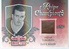 2017-18 Leaf Invictus Hockey DAVE KEON #RC-10 Reign of Champions Jersey 2/5