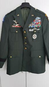 US Airborne Lieutenant General Uniform Ranger Green Dress Top mit Orden usw.
