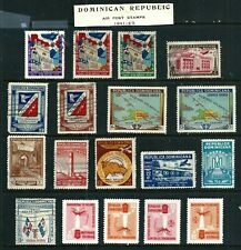 18 Air Post Stamps - Dominican Republic 1941-1962 MH & used