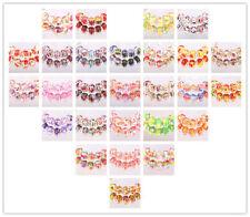 NEW 10pcs SILVER MURANO bead LAMPWORK fit European Charm Bracelet jewelry choice
