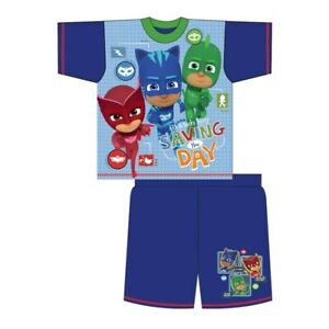 Boys Official PJ Masks Shortie Pyjamas Pajamas 18-24 Months