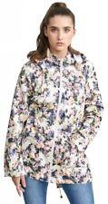 Ladies Showerproof Polyester Fishtail Hooded Rain Mac Parka Raincoat Jackets