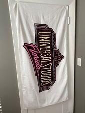 Vintage 90s Universal Studios Florida Collectible Beach Bath Towel