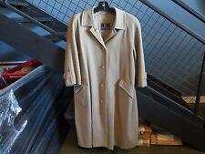 Vintage Burberrys womens size PETITE 10 camel beige long 100% wool coat jacket