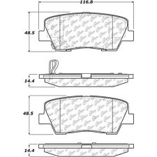 Disc Brake Pad Set Rear Centric 105.12842