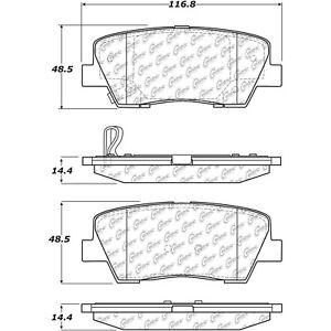 Disc Brake Pad Set Rear Centric 105.12842