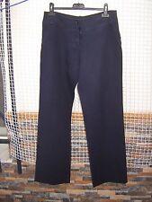 Pantalón Roberto Verino talla 36 azul marino largo corte recto