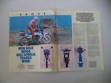 - PROVA MOTOCICLISMO 1987 MOTO APRILIA TUAREG WIND 350
