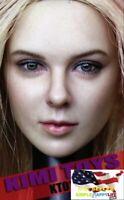 "KIMI KT012 1/6  female head blonde hair for 12"" figure Phicen hot toys ❶USA❶"