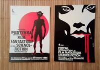 2 carte postale Comes Buzzelli festivale film fantastique  Bruxelles 83 et 86