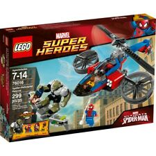 Lego 76016 Marvel Spider-Helicopter Rescue w/ Booklet, Minifigures, Comic Book