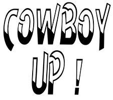 Cowboy Up- Window sticker Car RV ATV Truck Hunting Rope Fun Outdoor Vinyl Decal