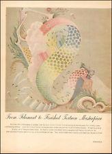 1949 Vintage ad  TEXTRON`Art Lingerie, home fashions menswear fabric   ( 032117)