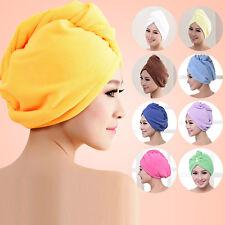 Microfiber Hair Wrap Towel Hat Turban Twist Quick Drying Dry Cap Ladies Bath Spa