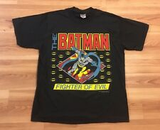 Vintage 80's Batman Fighter Of Evil T-Shirt XL 50/50 DC Comics NWOT Movie TV