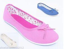 Zapatos planos de mujer rosa textiles