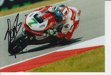 Raúl Vázquez mano firmado 7x5 Foto Mahindra Racing Moto 3 MotoGP 2.