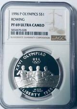 1996-P Olympics Rowing Silver Dollar Commemorative - NGC PF-69 Ultra Cameo
