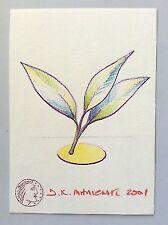 "Dimitris C. Milionis ""NEW LIFE"" Original Drawing Signed Paper Painter 2001"