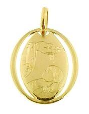 Ciondolo Pendente Fonte Battesimale Bimbo Bambina Oro Giallo 18 Kt Carati Ct 750