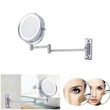Doble Cara de Montaje en Pared Espejo para Maquillaje Baño Afeitado con LED