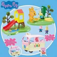 Peppa Pig & Friends Park Playset Paquete Day At The Columpio, Tobogán, Ice Crema VAN