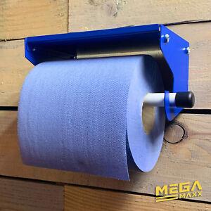 Industrial Wall Mount Paper Towel Blue Roll Holder Dispenser Shelf Cleaning