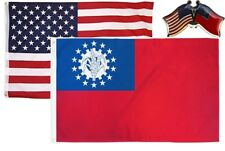 Wholesale Combo USA & Myanmar Old Burma 3x5 3'x5' Flag & Friendship Lapel Pin