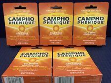 Campho-Phenique Cold Sore Treatment 0.23 oz 09/2021 Lot of 5