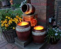Springbrunnen mit LED Beleuchtung Innen und Außen Zimmerbrunnen Gartenbrunnen