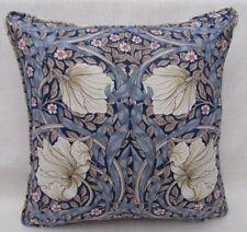 """William Morris Fabric Cushion Cover 'PIMPERNEL' INDIGO/HEMP - 18""""- 100% Cotton"""