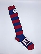 New York Giants NFL Long Wide Red And Blue Striped Knee High Women's Socks