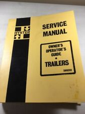 Hyster Trailers Service And Operators Manual (See Pics For Included Models)