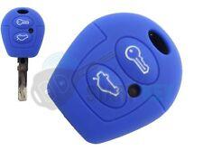 VW Seat Skoda Schlüssel Silikon Hülle Fabia Galaxy Leon Lupo Key Cle Chiave Blau
