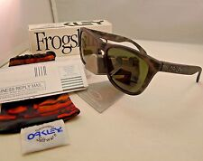 OAKLEY FROGSKINS MATTE BLACK TORTOISE DARK GREY SUNGLASSES 24-415 AUTHENTIC NEW